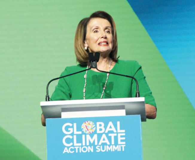 聯邦眾議員波洛西對環保的前景有信心。(記者李晗/攝影)