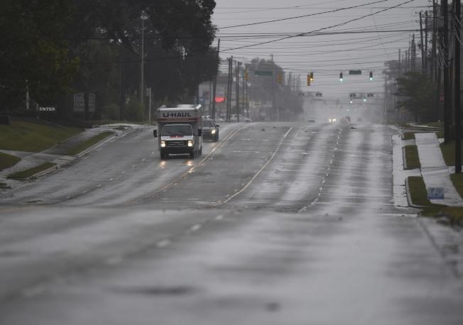 沿岸城鎮道路都已淨空。(美聯社)