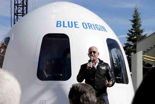 貝佐斯資產雄厚,成立「藍源」太空企業,推動太空旅遊願景。 (Getty Images)