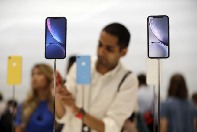 蘋果iPhone XR。美聯社