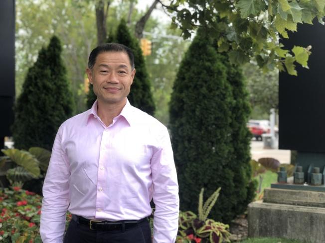劉醇逸贏得紐約州第11選區州參議員黨內初選。(記者陳小寧/攝影)