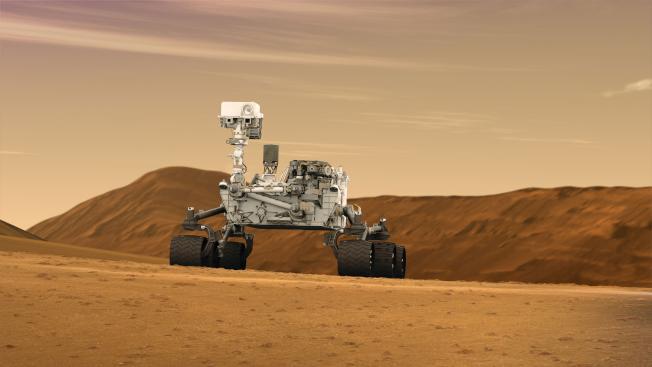 2012年火星探測車「好奇號」成功著陸火星。(取材自NASA)