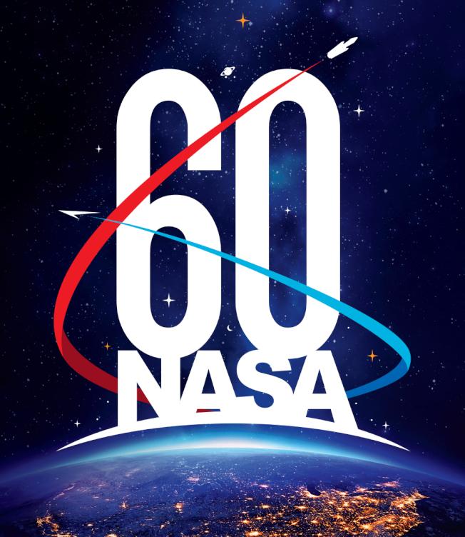 美國國家航空暨太空總署(NASA)慶祝成立60周年海報。(取材自NASA)