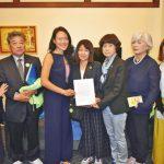 日民間團體聲援慰安婦向金山市議會遞信陳情