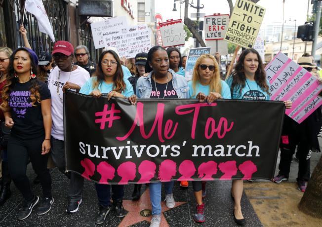 #MeToo運動一周年,所向披靡,是否政治正確過當,引起爭議。(美聯社)