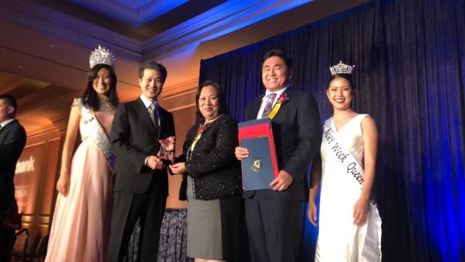 「年度企業獎」頒給了華美銀行。(記者王若然 / 攝影)