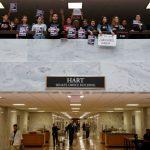 〈圖輯〉參院聽證 支持與抗議民眾