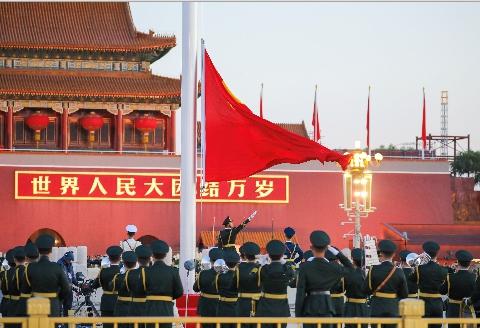 中國天安門。路透