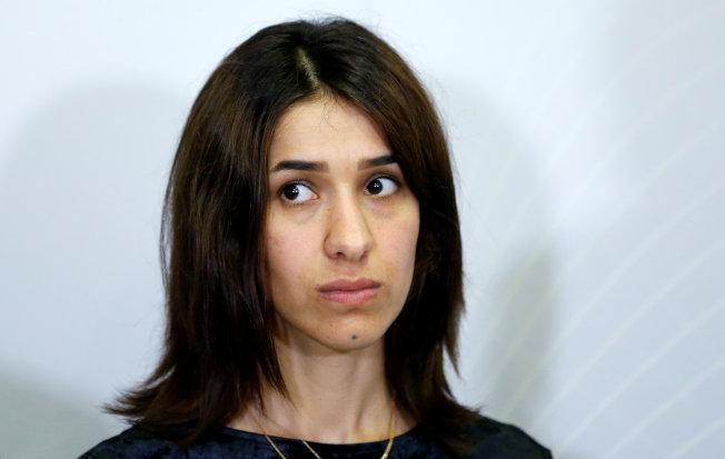 亞茲迪族人權運動家穆拉德,獲2018年諾貝爾和平獎。(路透)