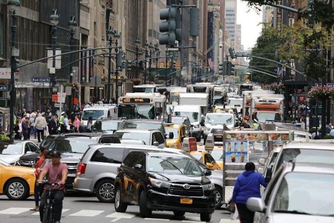 在求职网站Zippia的最新压力名单中,由于交通壅塞和生活费高,使纽约州压力排名第五高。(Getty Images)