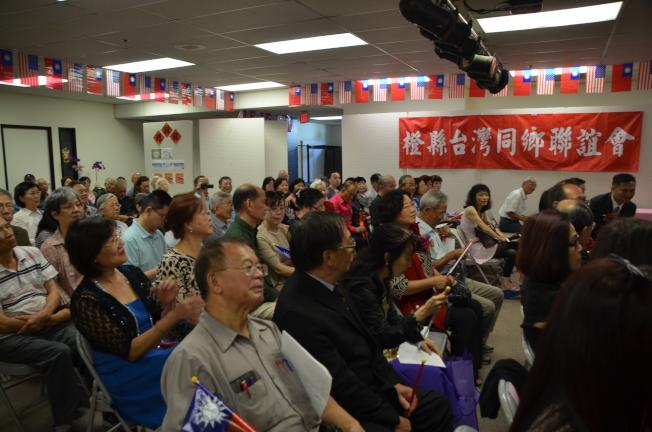 橙縣僑胞歡聚一堂慶祝中華民國國慶。(本報記者/攝影)