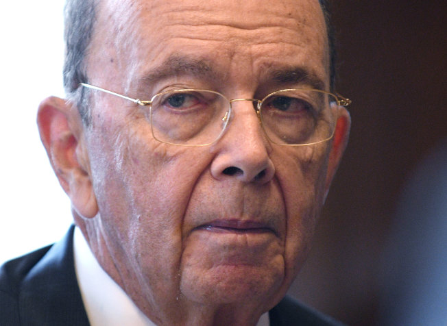 USA-TRADE/ROSS:U.S. Secretary of Commerce Ross speaks during Reuters interview in his office at the U.S. Department of Commerce building in Washington U.S. Secretary of Commerce Wilbur Ross gestures during an interview with Reuters in his office at the U.S. Department of Commerce building in Washington, U.S., October 5, 2018. REUTERS/Mary F. Calvert