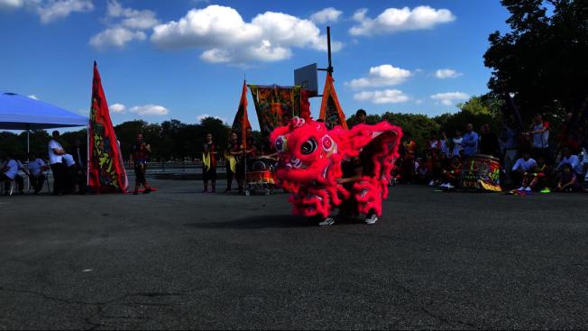 首屆紐約國際獅王大賽有六隊參賽。(記者牟蘭/攝影)
