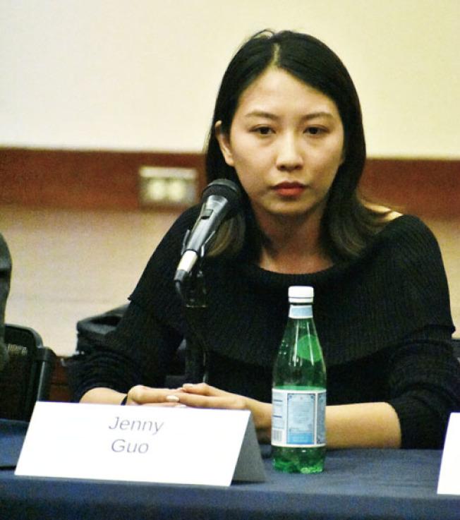 虛擬科技公司LumiereVR的代表郭沁雅對美國的人才政策感到憂慮。(記者黃少華/攝影)