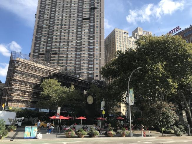 林肯廣場是時尚高端住宅區。(記者劉大琪/攝影)