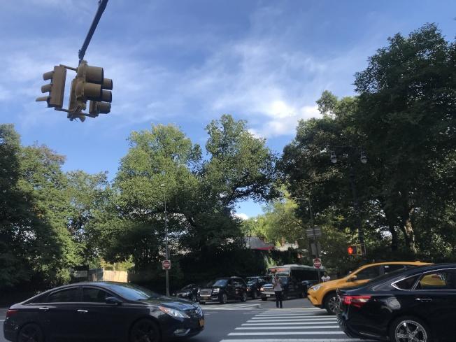 林肯廣場毗鄰中央公園西。(記者劉大琪/攝影)