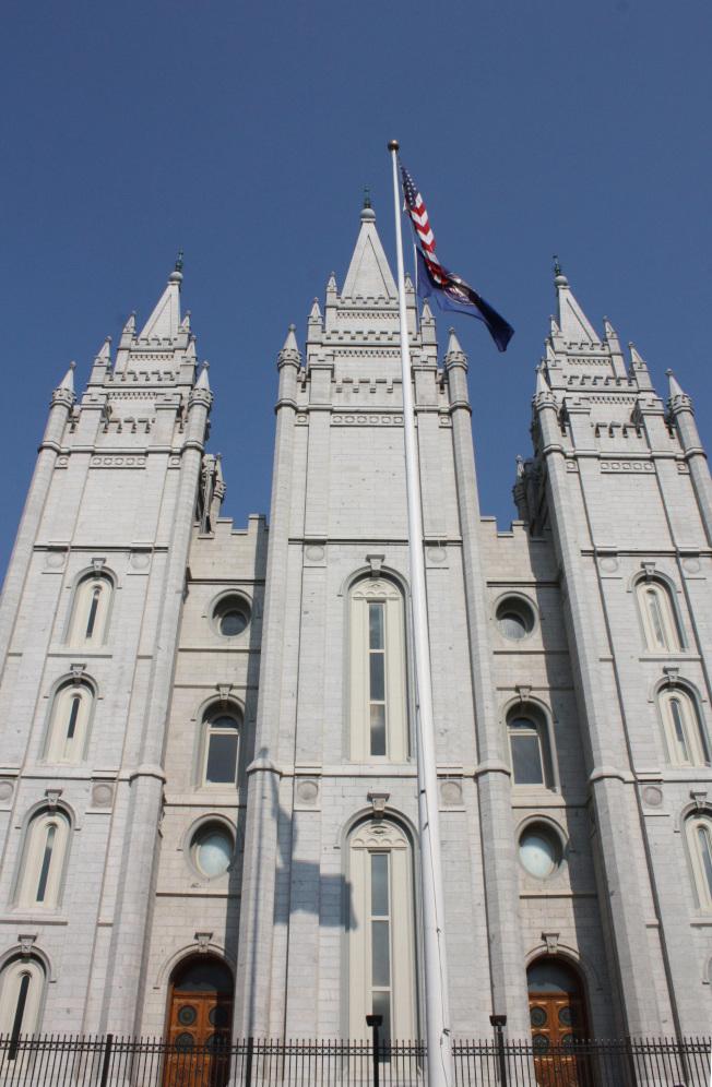 鹽湖城摩門教總部的聖殿。