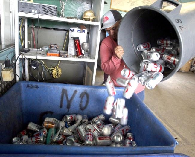 美国加州的回收中心。欧新社