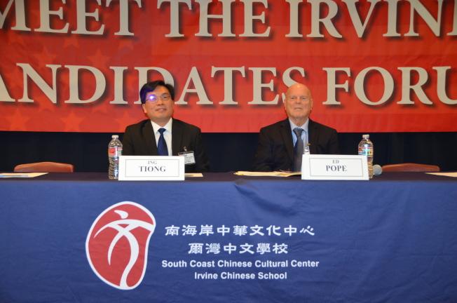 張榮昌(Ing Tiong,左)和Ed Pope(右)。(記者王全秀子/攝影)