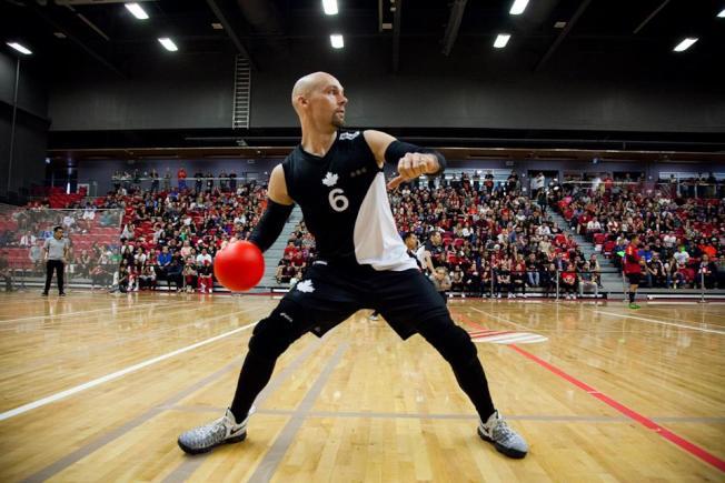 選手在場上進行激烈廝殺。來源:美國躲避球協會會長(USA Dodgeball) Jake Mason提供。