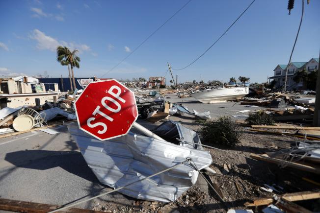 颶風麥可是史上威力最強的颶風。美聯社