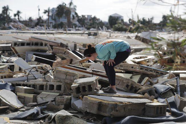 〈圖輯〉颶風麥可毀了佛州濱海小鎮