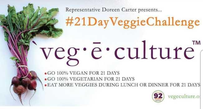 喬治亞州眾議員卡特(Doreen Carter)發起21天素食運動。(取自Doreen Carter臉書)