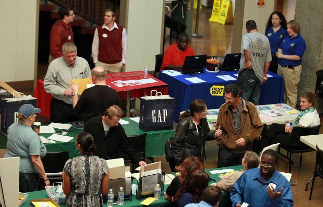 就業博覽會場景。(Getty Images)