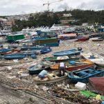 香港風災滿月 西貢遊艇墳場依舊 2000萬元超級遊艇「擱」成景點