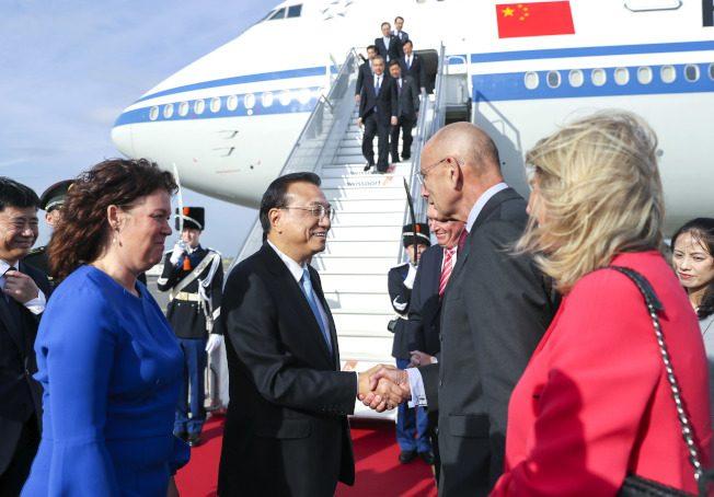 中國總理李克強訪荷蘭 雙方將簽能源、金融協議