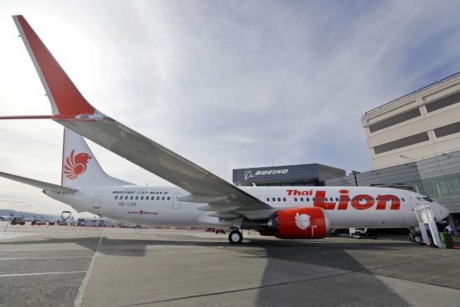 印尼獅航失事飛機機型為波音737 MAX 8。圖為獅航的波音737 MAX 9。(美聯社)