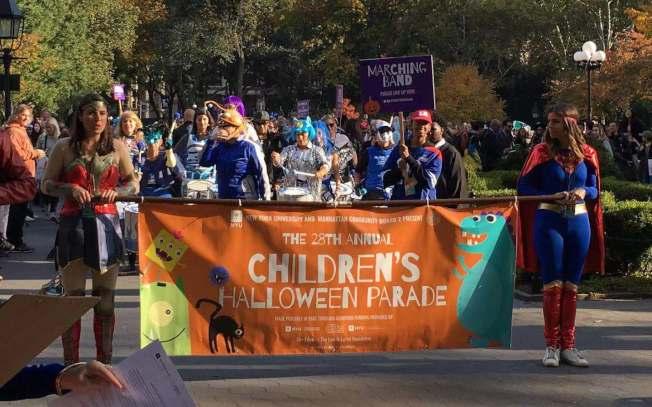 第28屆「格林威治村兒童萬聖節遊行」31日在華盛頓廣場公園舉行。(記者張筠/攝影)