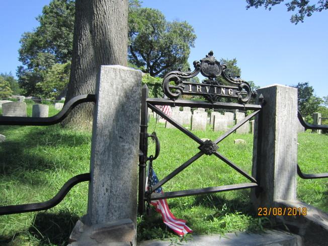 歐文墓地的標誌。