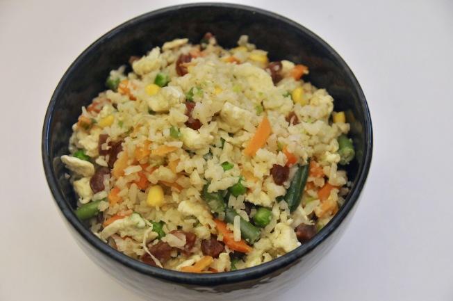 香腸炒花椰菜米飯