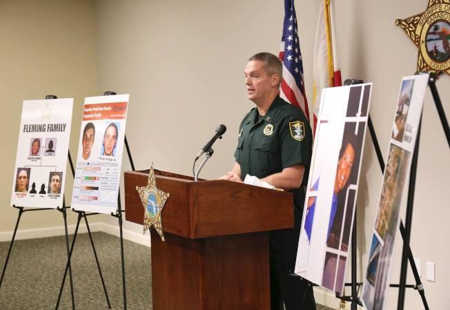薩拉索塔郡警方公布佛萊明落網。(Sarasota County (FL) Sheriffs Office臉書專頁)