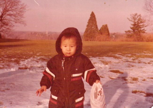 兩歲時的安澤。