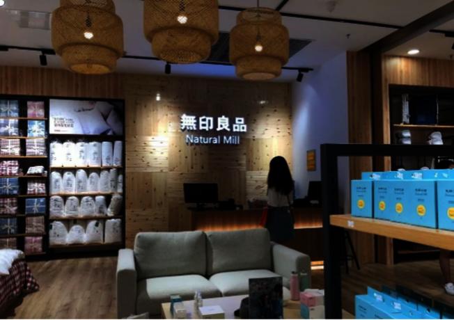 中國的山寨店「無印良品Natural Mill」。(取材自微信)