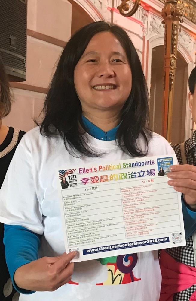 反大麻領袖李愛晨認為,市議員候選人是否收受大麻業者的捐款,應該讓選民知道。(記者李秀蘭/攝影)