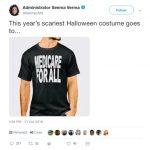 「全民健保」裝扮最嚇人! CMS局長推文惹議