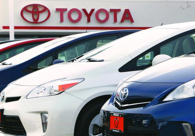 日系汽車的兩大公司豐田(圖)和本田21日在美國採取大規模召回行動,都是要檢修車上的安全氣囊瑕疵。(美聯社)