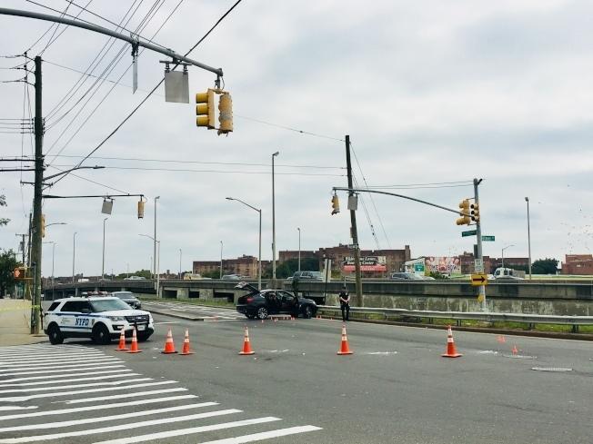 10月1日案發後,兇嫌將搶來的車棄置在26大道交120街口。(本報檔案照)