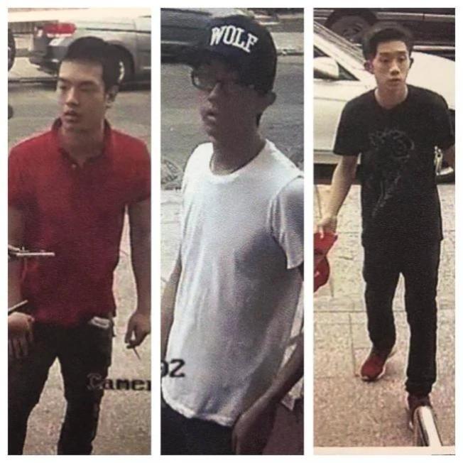 三名華裔男子涉嫌兩年前當街行搶。(市警提供)