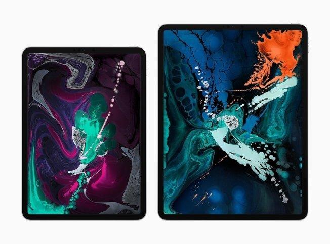 Apple發表新一代iPad Pro,共有11吋、12.9吋兩款。 (取材自Apple官網)