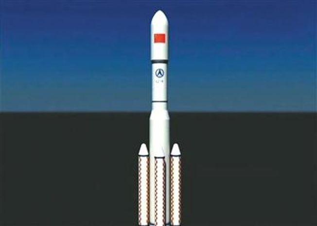 中國重型運載火箭模擬圖,火箭上有CZ-9(長征九號)的字樣。(取材自央視網)