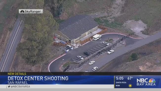 聖拉菲海倫藤戒毒中心5日發生槍擊案。(電視新聞截圖)