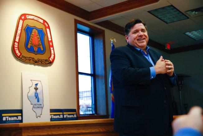普立茲克擊敗現任伊利諾州州長朗納,成為新任州長。(普立茲克臉書)
