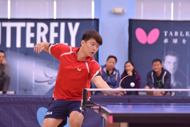 梁吉善是美國乒乓賽常勝軍。(三角乒乓球中心提供)