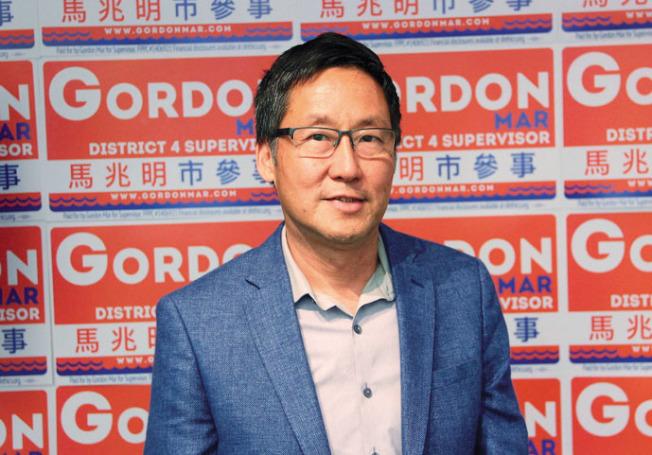 馬兆明在日落區市議員選舉中領先,優勢明顯。(本報檔案照片)