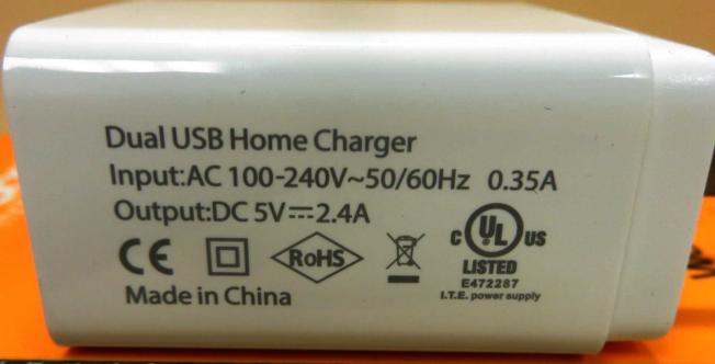 CBP查獲15萬個標有仿冒安全鑑定合格手機USB充電插頭,市價預估超過270萬元,且貨源均來自中國。(CBP提供)