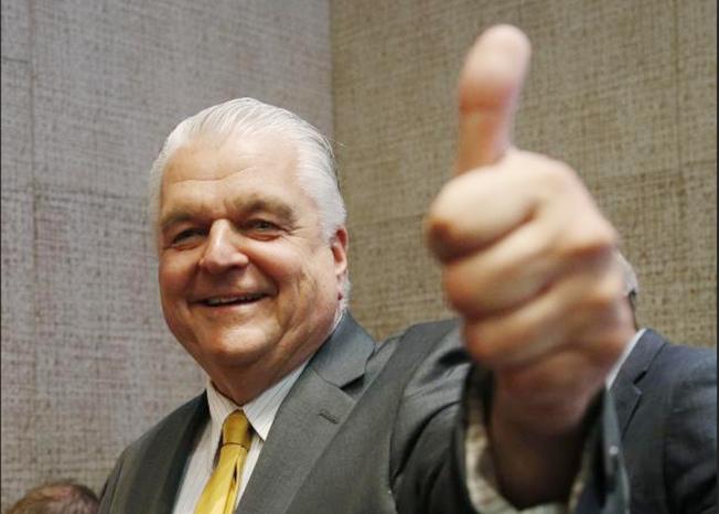 民主黨籍的Steve Sisolak當選內華達州州長。(美聯社)